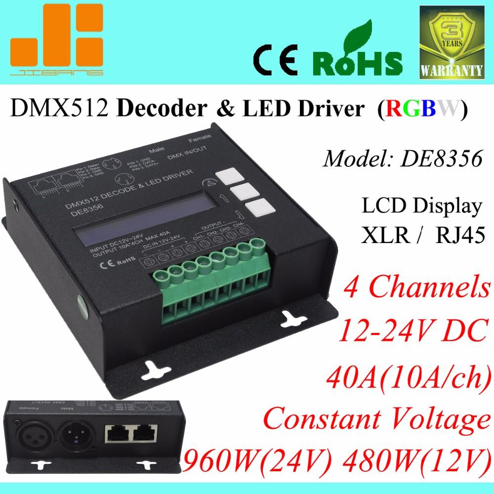 Schema Collegamento Xlr : Rgbw dmx decoder 4ch dmx512 ha condotto il driver xlr rj45 40a 960 w