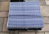Alpaca Blanket Throw of Blue with White Color