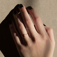 18k Yellow Gold Opal Gemstone Ring