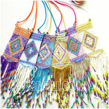 6 colors pendant necklace crystal bead miyuki pendant charm designs bali