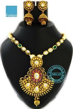 Antique kundan polki pendant set buy antique kundan polki pendant antique kundan polki pendant set aloadofball Choice Image