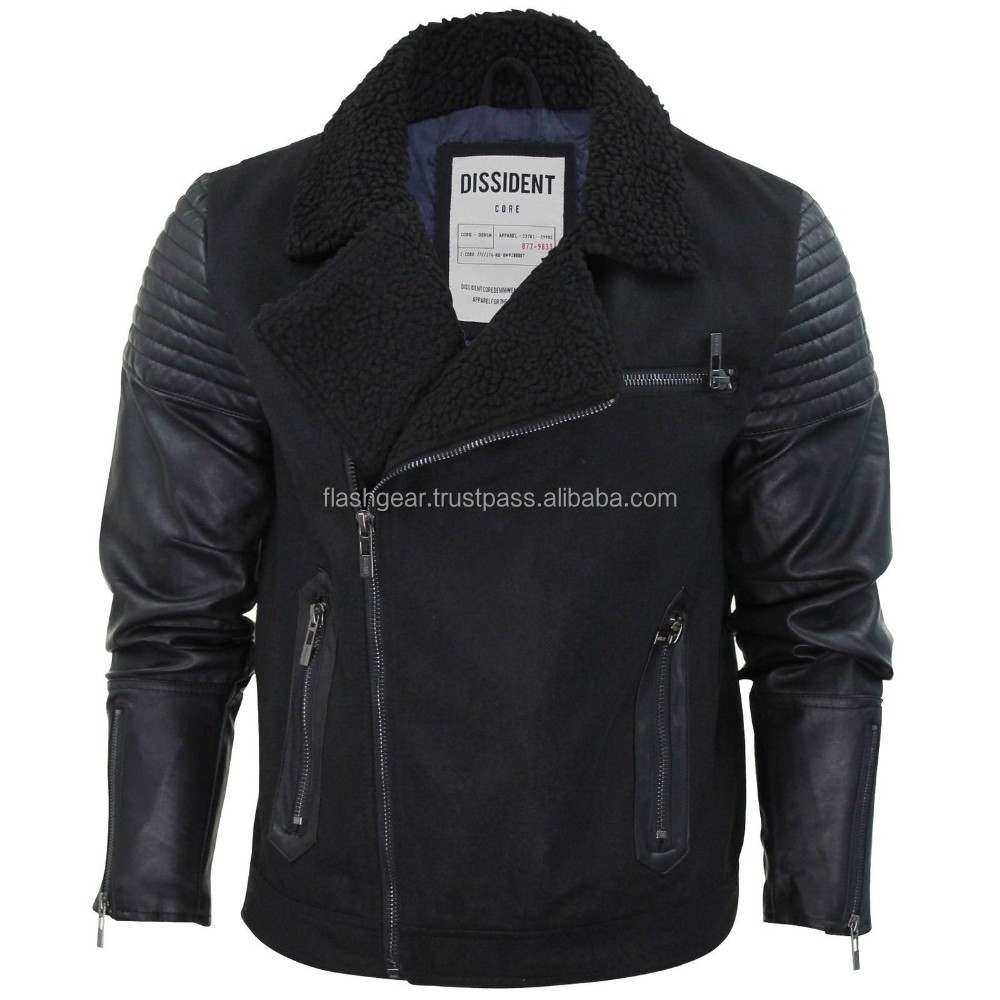 Men Fashion Brando Slim Fit Leather textile jacket, Vintage Biker Motorcycle Classic Leather Jacket, Men casual jacket