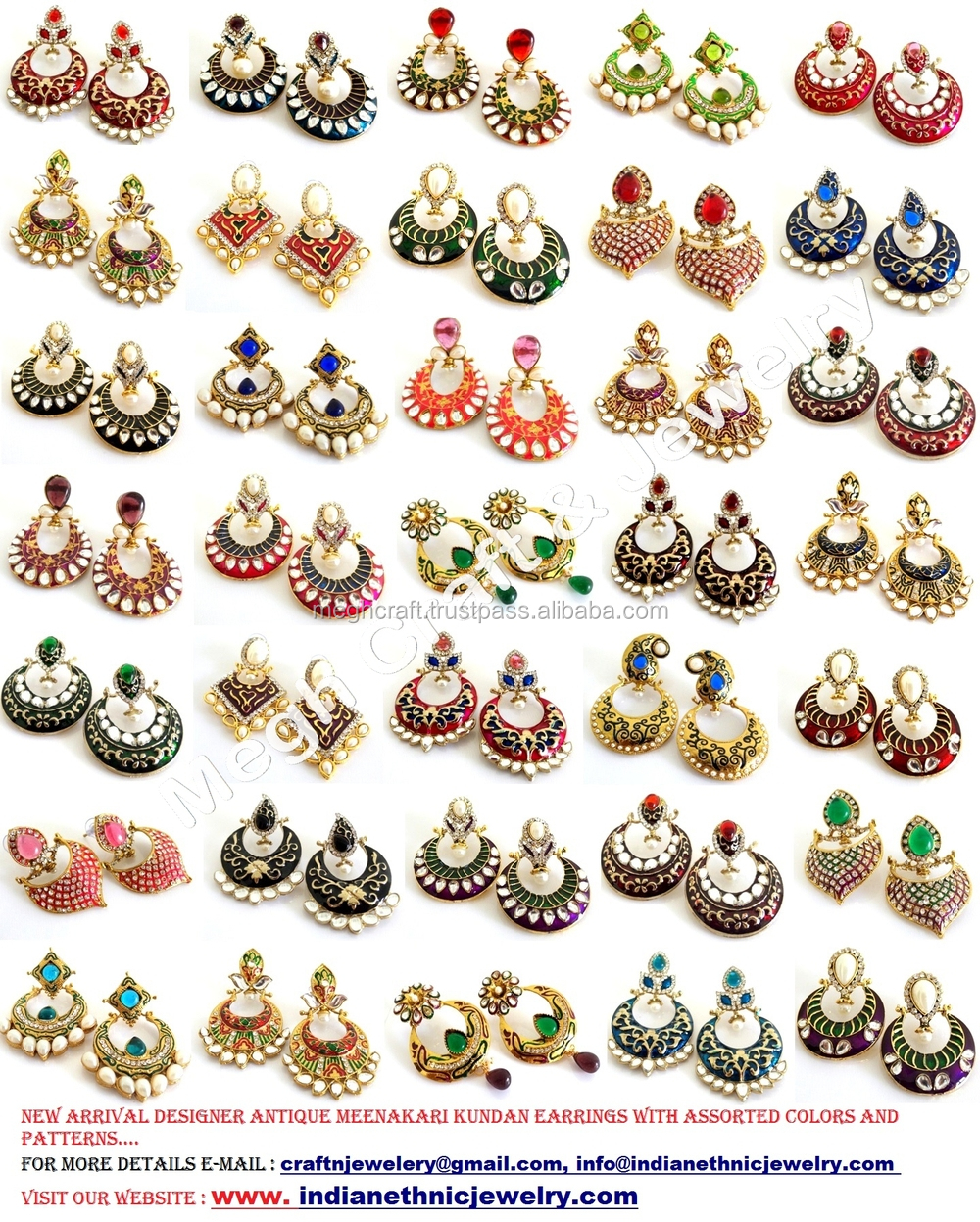 multi flower jewelry image jewel view large wholesale statement mt gold earrings