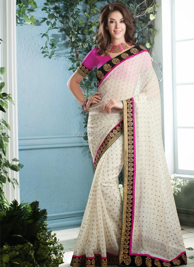 Indian New Designer Sari Bollywood Actress Style Georgette Party ...