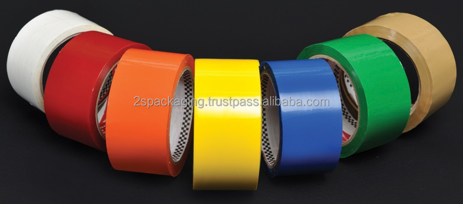 Premium Grade OPP Color Tape with Acrylic Adhesive of Good Bonding Performance