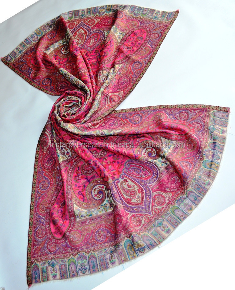 Indian Large 100% Wool Kani Shawls