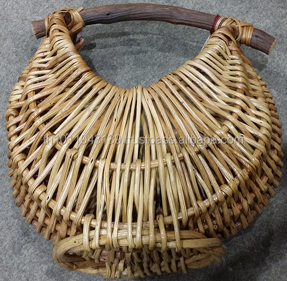 Thai Bamboo Straw Decorative Flower Basket