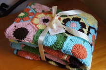 Best Handmade Throw Blanket ,Crochet blanket,handmade blanket -Colorful Spring Flowers under the sunshine. Blanket/Afghan/Throw