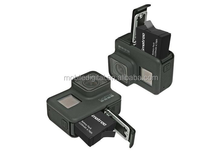 Smatree Battery (2-Pack) With 3-Channel Charger for Go pro 5 Black