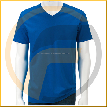 Wholesale price curved hem casual fashion tee top 100 for 100 cotton v neck t shirts wholesale