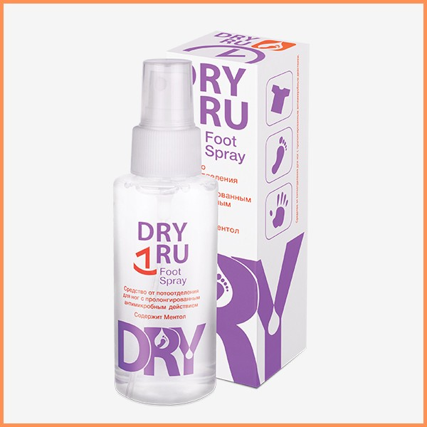 Best foot deodorant spray for men - DRY RU Foot Spray from supplier.