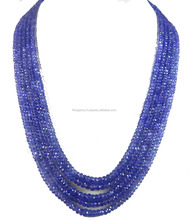 Natur Royal Blue AA qualität Tanzanite Roundel faceted Perlen