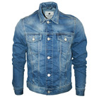 stylish men's blue denim jeans jacket