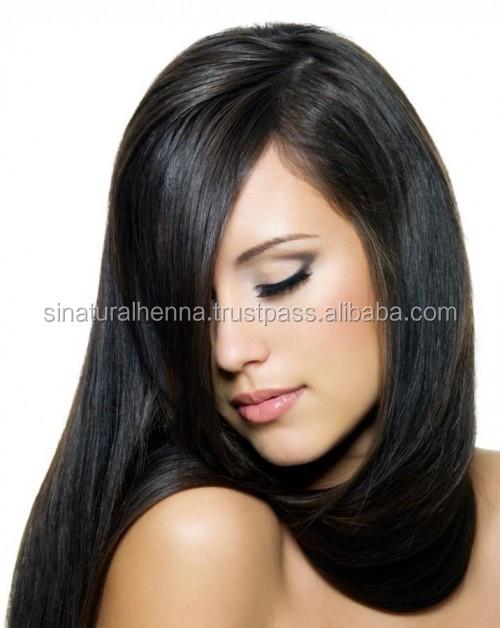 base de plantes henn noir poudre cheveux couleur pour doux brillant noir cheveux - Coloration Henn Noir