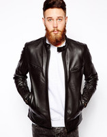 LIte Brown Men Genuine Leather Jacket - All Sizes