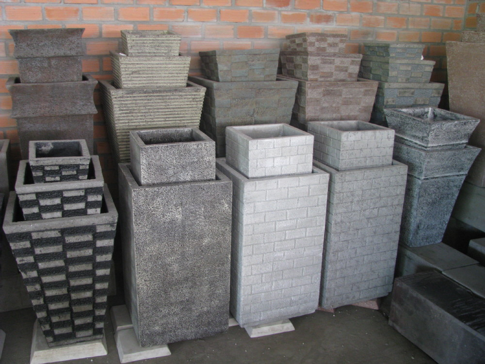 Wholesale Round Square Terrazzo Planters Cement