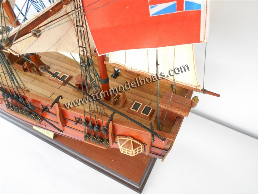 hms bounty maquettes de bateaux en bois vendre grand voilier mod les arts collection id. Black Bedroom Furniture Sets. Home Design Ideas