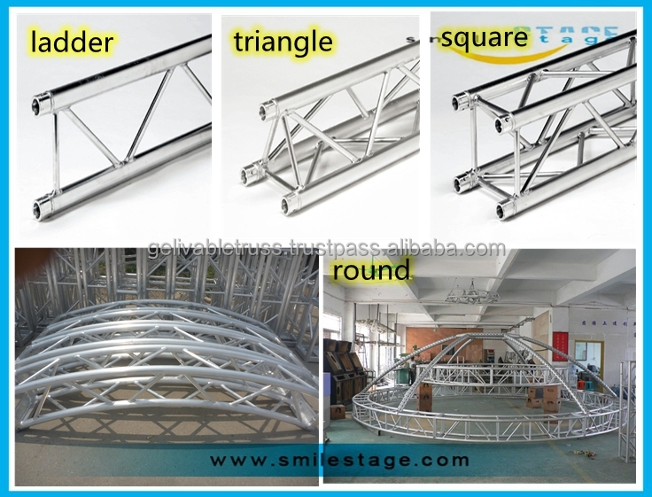 Aluminum truss roof moving head truss system buy flat for Buy trusses
