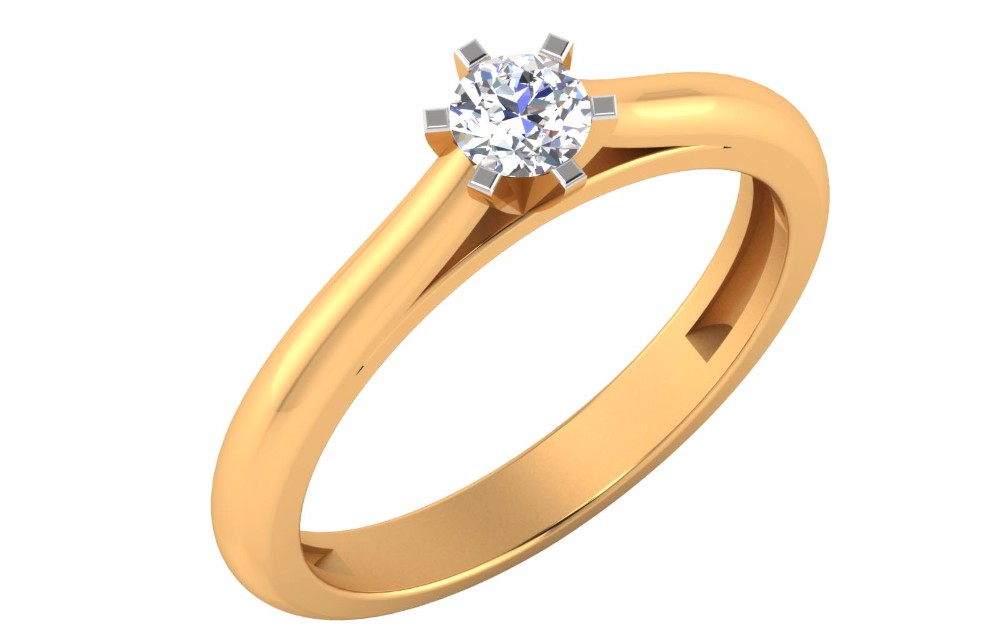 14k Yellow Gold Ring New Style Solitaire Diamond Ring Beautiful ...