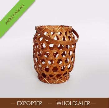 Romantische Hangenden Bambus Laternen Wohnkultur Kerzenhalter In