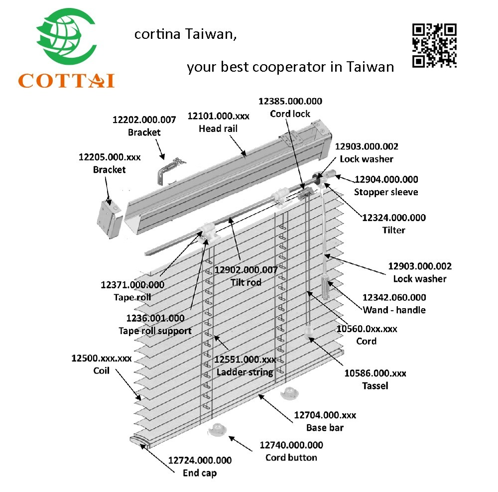 Cottai Hole Punch Plastic Button Cord For Venetian Blinds Parts