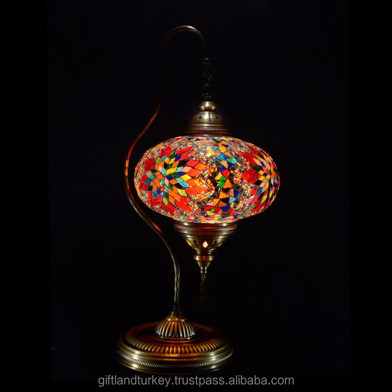 Swan Neck Turkish Table Mosaic Lamp Size 5(SW05)
