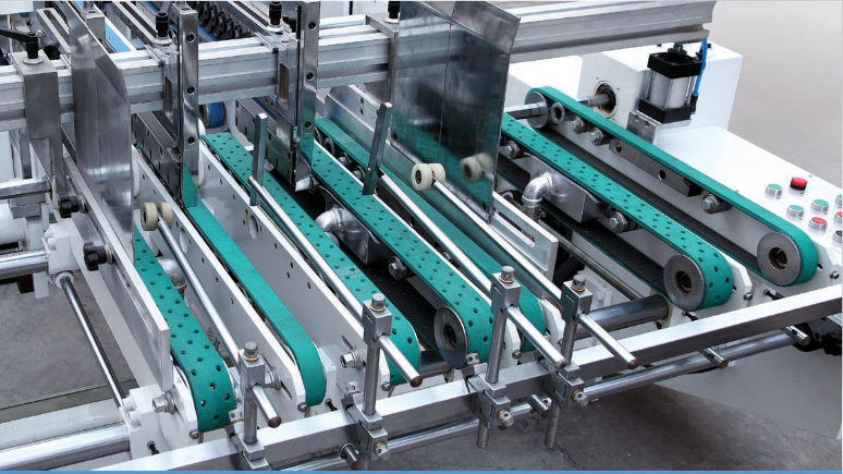 GK--SLJ Full Automatic 4 /6 Corner Folding Gluing Machine with Higher Speed