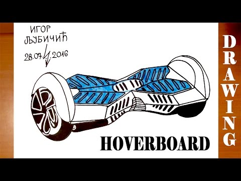 How to Draw a HOVERBOARD | On paper Easy for Kids and Color | Self Balancing Smart Electric Scooter
