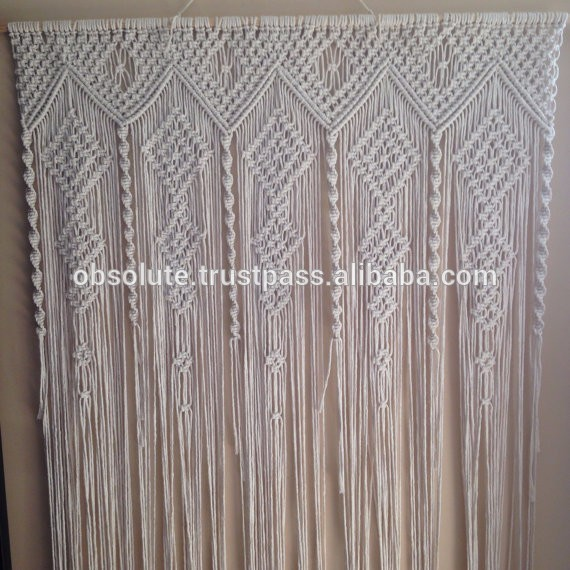 White Macrame Door Window Curtains - Buy Fancy Window Curtain,Indian  Macrame Window Curtains,Macrame Lace Curtains Product on Alibaba com