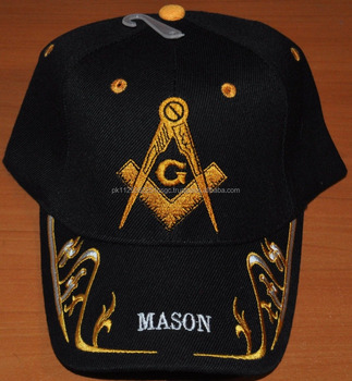 Masonic Cap  Hats With Square Compass Embroidery Logo - Buy Mason ... 2b01307f573
