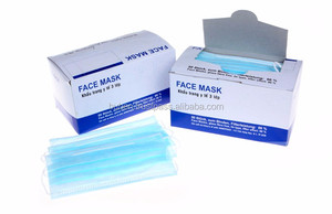 Disposable Earloop Masks Ply 3 Non Face Surgical Woven Pleated