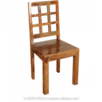 mango wood dining chair vintage industrial wood design
