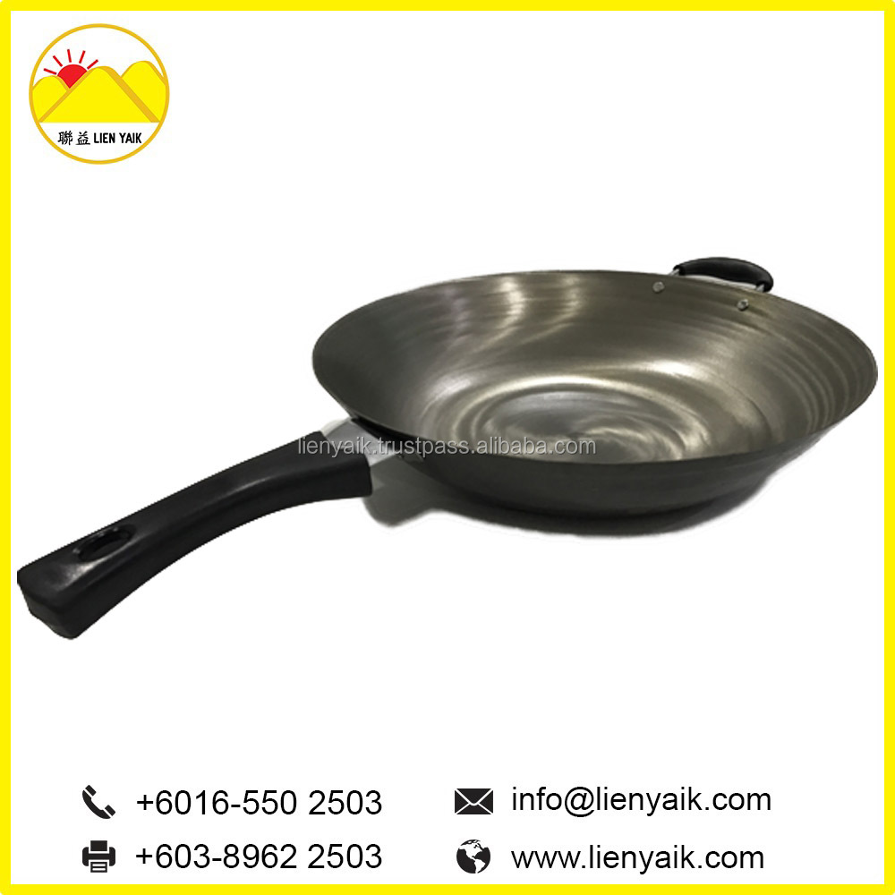 Hot Sale Metal Cast Iron Single Handle Chinese Pan Wok