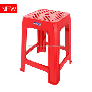 Colorful plastic stool/ stackable plastic chair/ tall plastic stool - DUY TAN PLASTICS