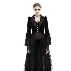 Gothic theater palace style floral pattern fishtail jacket