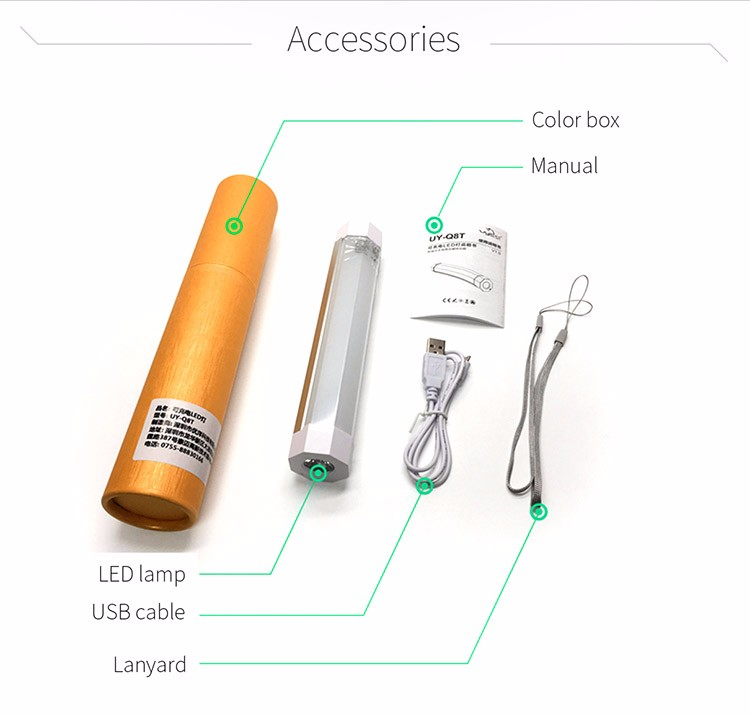 USB Rechargeable Battery Camping Torch LED Lighting with Magnets