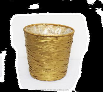 High Quality Plait Bamboo Flower Basket Pot Cover Artex Nam An Planter