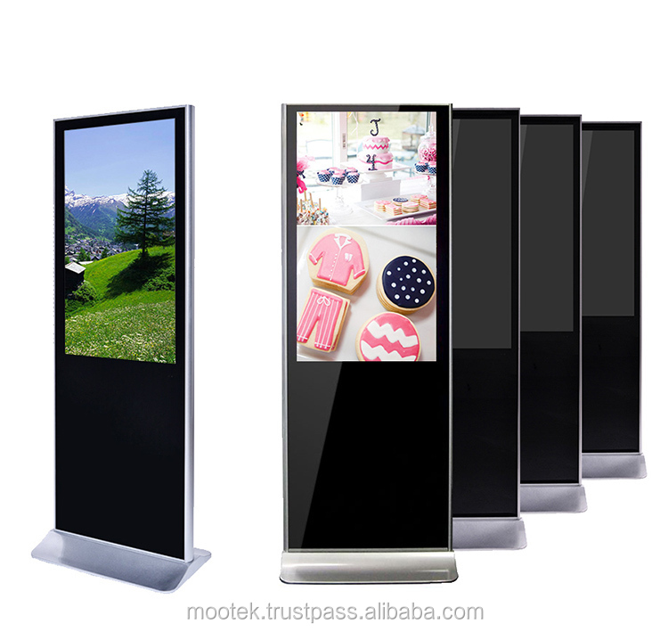 Benutzerdefinierte interaktive touchscreen werbung display/LCD digital signage kiosk