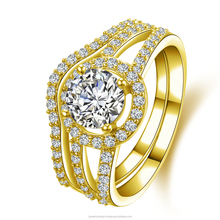 Lady Solitaire Round Cut SONA Diamond Bridal Engagement Wedding Ring 1 CT Forever Classic Lab Diamond 10 Carat Yellow Gold Ring