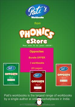 Bundle Offer : Opposite Words Work Books For Children - English - Buy  Opposites Antonyms Books For Kids,Marrs Spelling Bee Books Kids,Phonics  Books