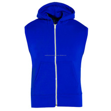 Center zipper sleeveless kids hoodie/Sleeveless center zipper kids hoodie