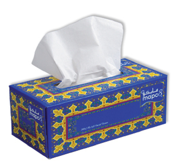 Direct printing on facial tissue agree with