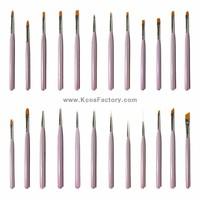 Professional Gel nail art brush set made in Korea by craftman