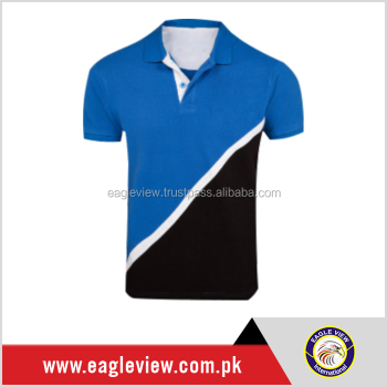 Blue And Black Color Polo Shirt Without Logo Cotton Tee Buy