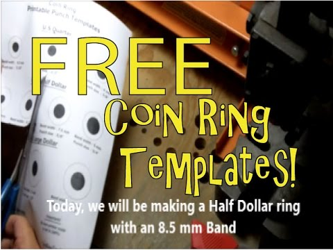 Coin Ring Tools FREE Coin Punch Template How To Make Coin Rings