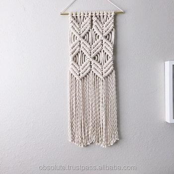 Modern Minimalist Macrame Wall Hanging Woven Tapestry Wall Decor ...