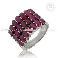 Shining Cut Stone Ruby Ring 925 Sterling Silver Jewelry Below Wholesale Sterling Silver Jewelry Supplier