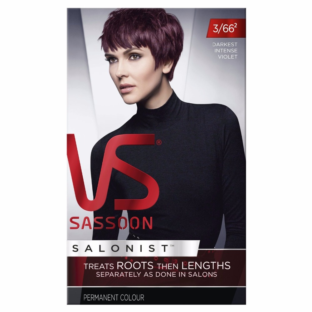 Vidal Sassoon Salonist Darkest Intense Violet 366 Permanent Hair