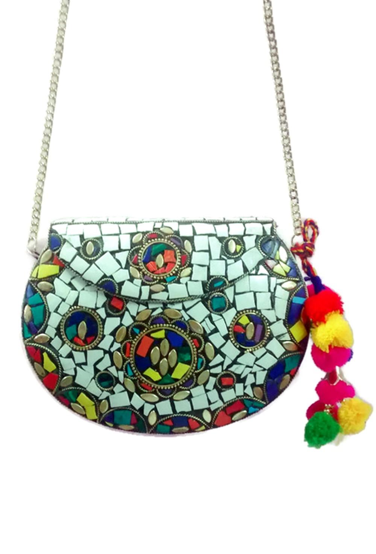 Hecho A Mano De Estilo Mosaico Vintage Piedra Étnica Embrague Cum Bolsa Con Hermosa De La India Al Por Mayor Buy Bolso De Mano,Bolso De Moda,Bolso