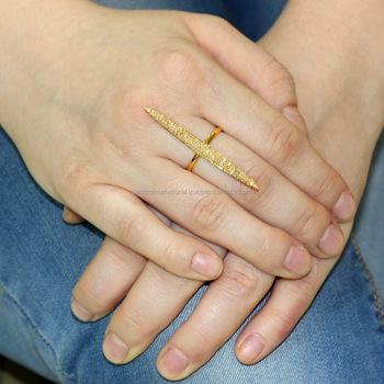 Solid Gold Ring Valentine Gift For Girls Pave Diamond Designer Ring